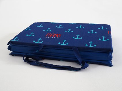 Plážové lehátko - modré  kotvičky