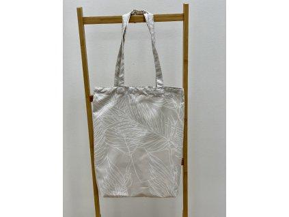 Látková taška - 40x45cm - vzor Peříčka tmavé