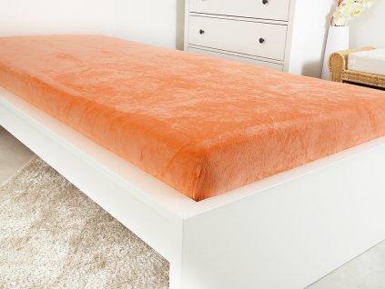 Mikroflanelové prostěradlo EXCLUSIVE - Orange