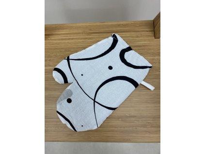 Kuchyňská chňapka s magnetem a poutkem - vzor Novalja