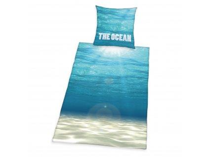 Bavlněné povlečení 140x200 + 70x90 cm - Oceán