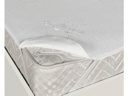 Nepropustný hygienický chránič matrace s gumami v rozích do postýlky