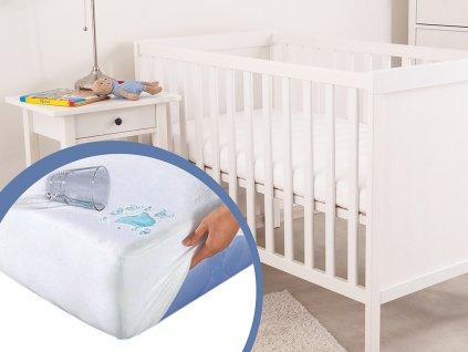 Nepropustný hygienický chránič matrace do postýlky