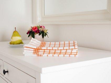 Kuchyňská utěrka MONA 50x70 - Oranžová