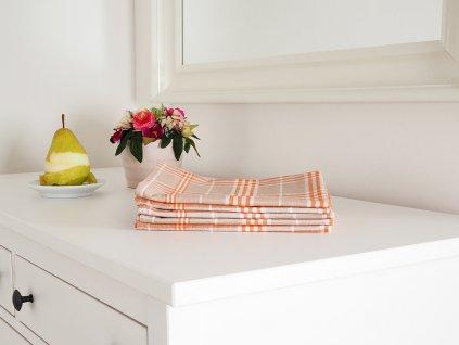 Kuchyňská utěrka TINA 45x65 - Oranžová