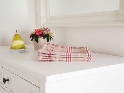 Kuchyňská utěrka TINA 45x65 - Červená