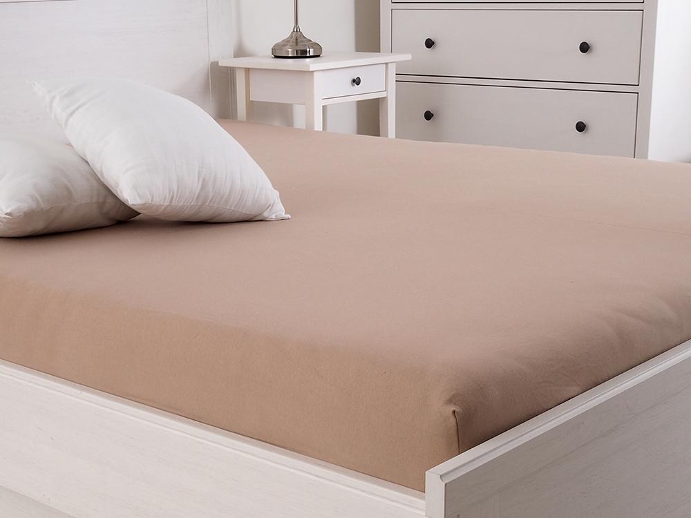 Levně Jersey prostěradlo s elastanem Lycra - Ořechová Rozměr: 140 x 200