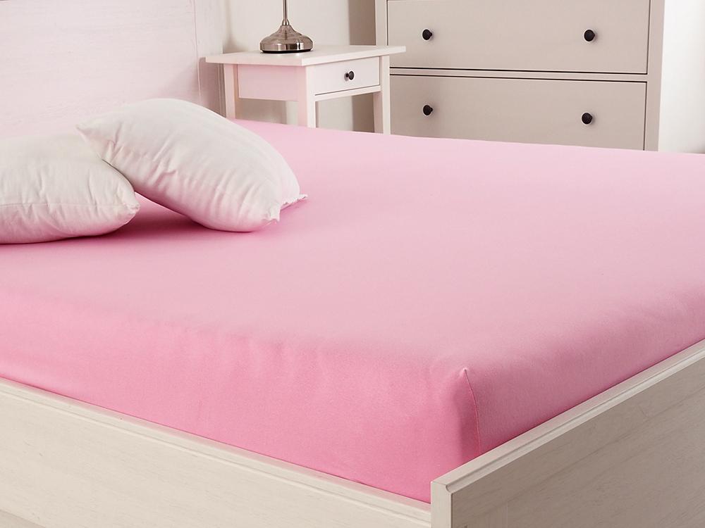Levně Jersey prostěradlo s elastanem Lycra - Růžová Rozměr: 160 x 200