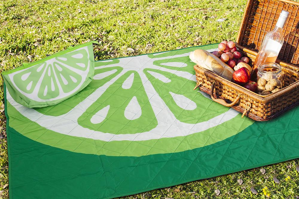 B.E.S. - Petrovice, s.r.o. Pikniková deka s taškou 120x160cm - Limeta