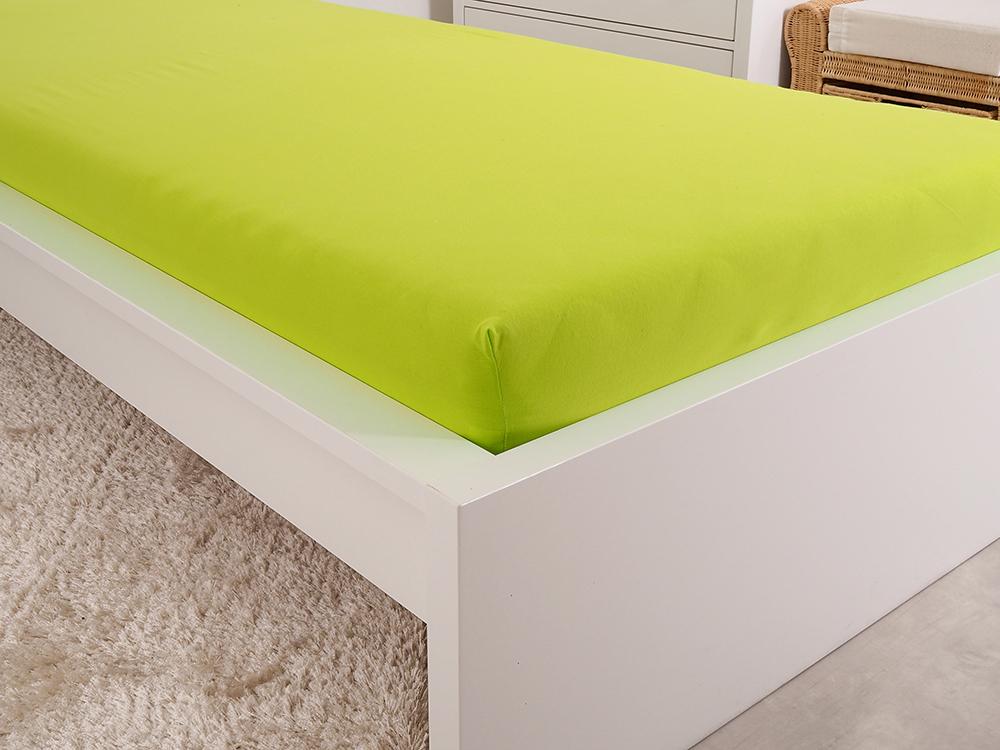 Prostěradlo JERSEY dětské - Svítivá zelená Rozměr: 60 x 120