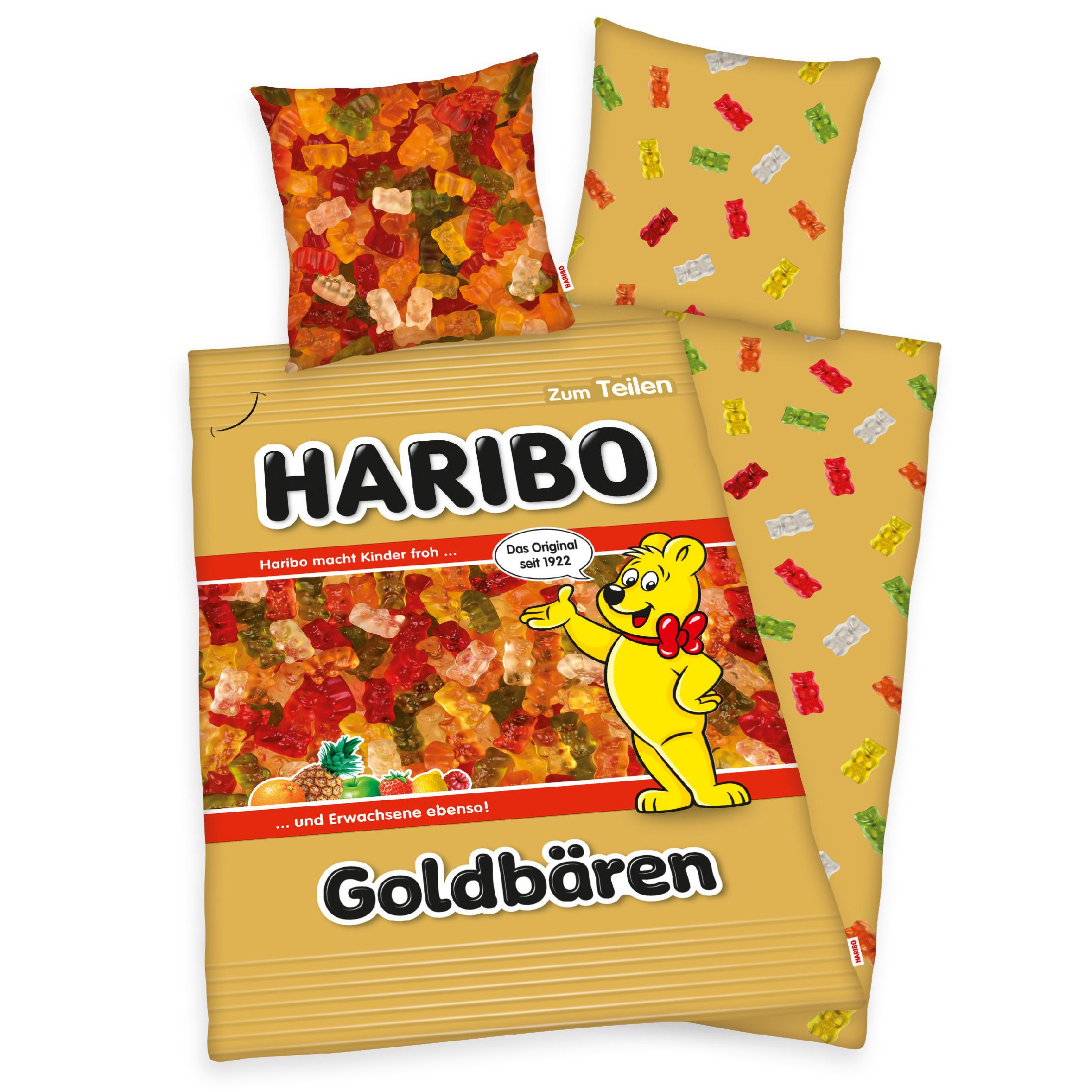 Bavlněné povlečení 140x200 + 70x90 cm - Haribo medvídci