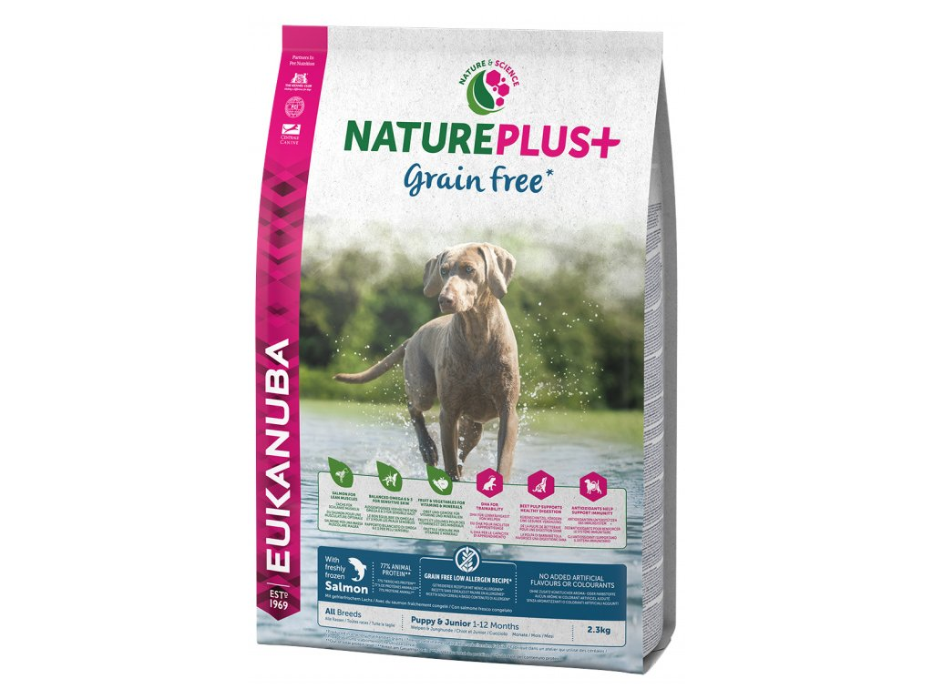 Eukanuba Nature Plus+ Puppy & Junior Grain Free Salmon 2,3kg