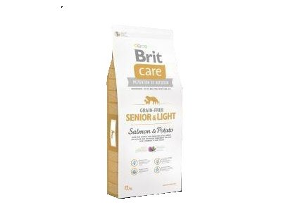 Brit Care Grain Free Senior&Light Salmon & Potato 12kg
