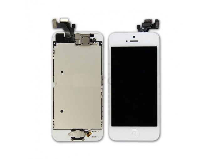 kompletni lcd panel displej pro iphone 5 bily