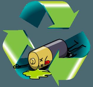 Zpětný odběr a recyklace vysloužilých baterií