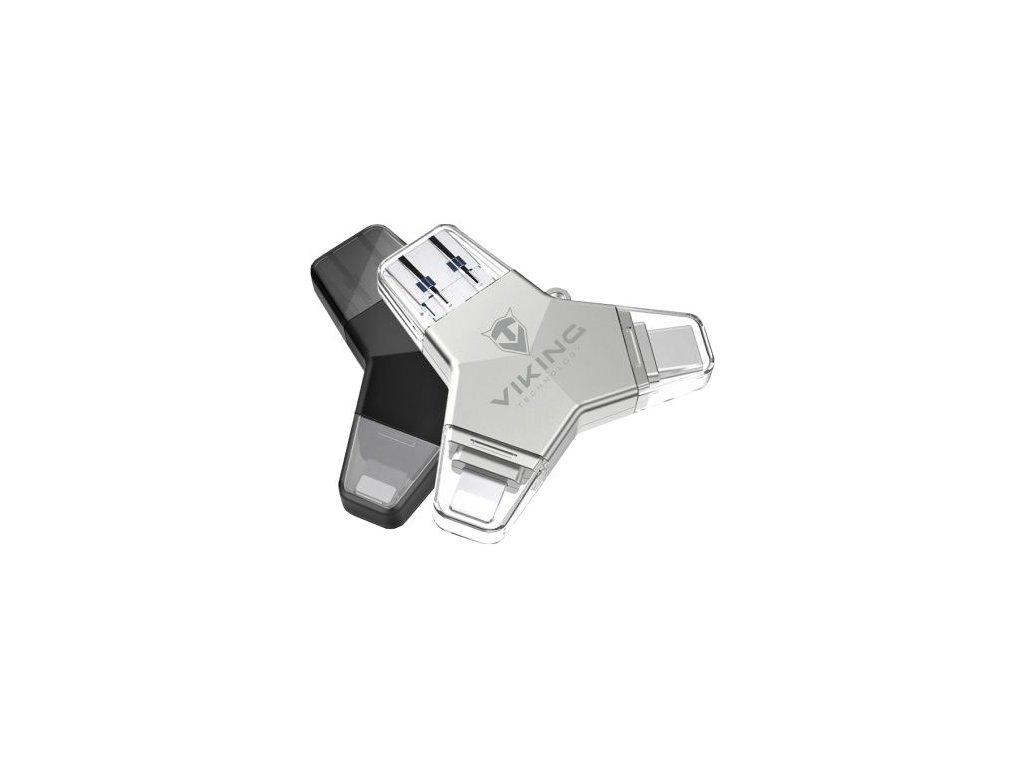 Viking USB flash disk 3.0 4v1 32GB  S koncovkou Lightning / Micro USB / USB 3.0 / USB-C