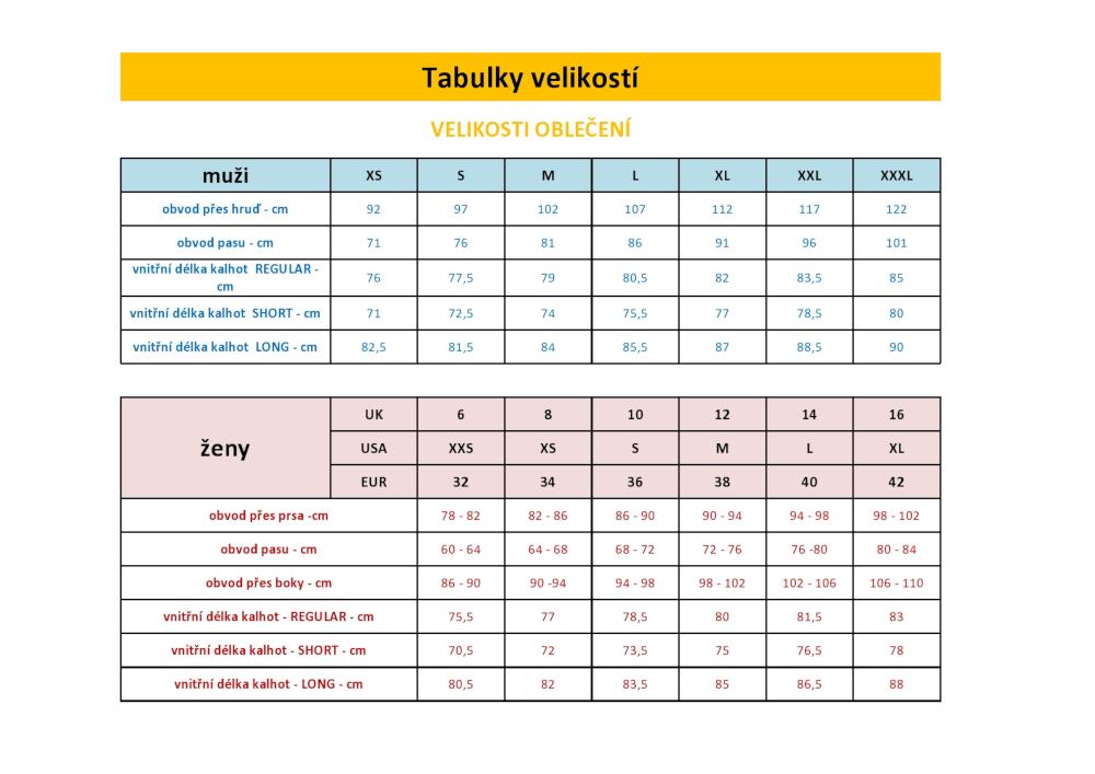 Montane_tabulka_velikosti_obleceni