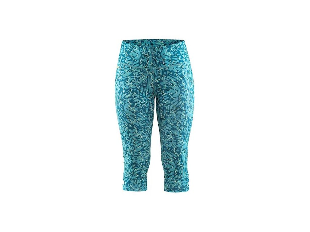 w kalhoty craft vibe capri tmave zelena