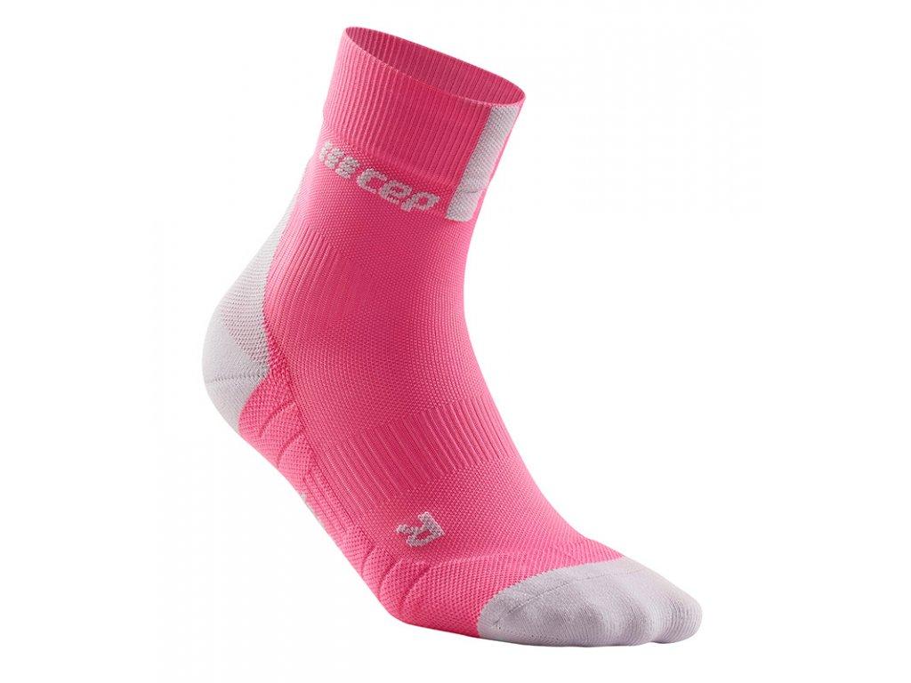 Compression Short Socks 3.0 rose light grey WP4BGX w single front