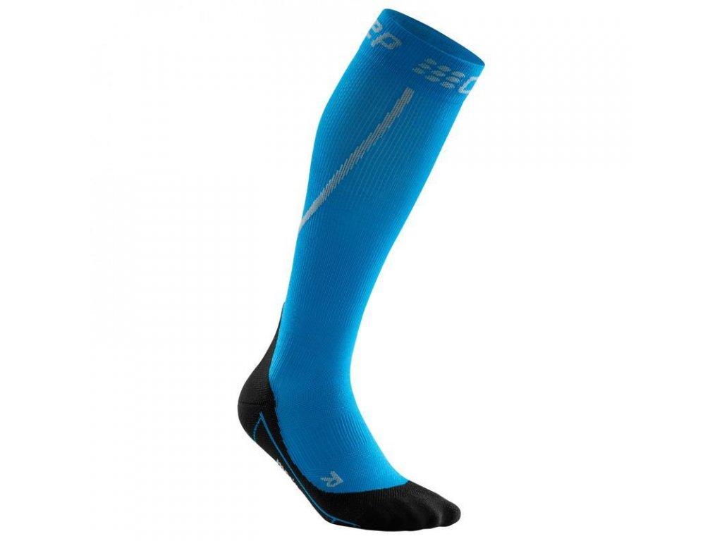 CEP Zimní běžecké podkolenky pánské elektrická modř / černá (Velikost V)