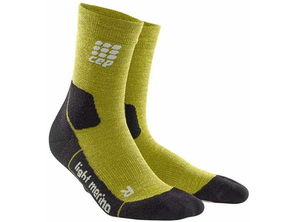 CEP Outdoor Light Merino Compression Mid-cut socks Gresh Grass pánské (Velikost V)