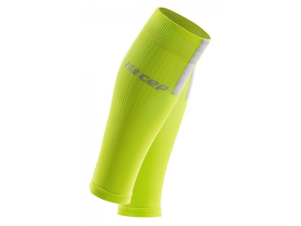 1280x1280 Compression Calf Sleeves 3.0 lime light grey WS50EX m WS40EX w pair front