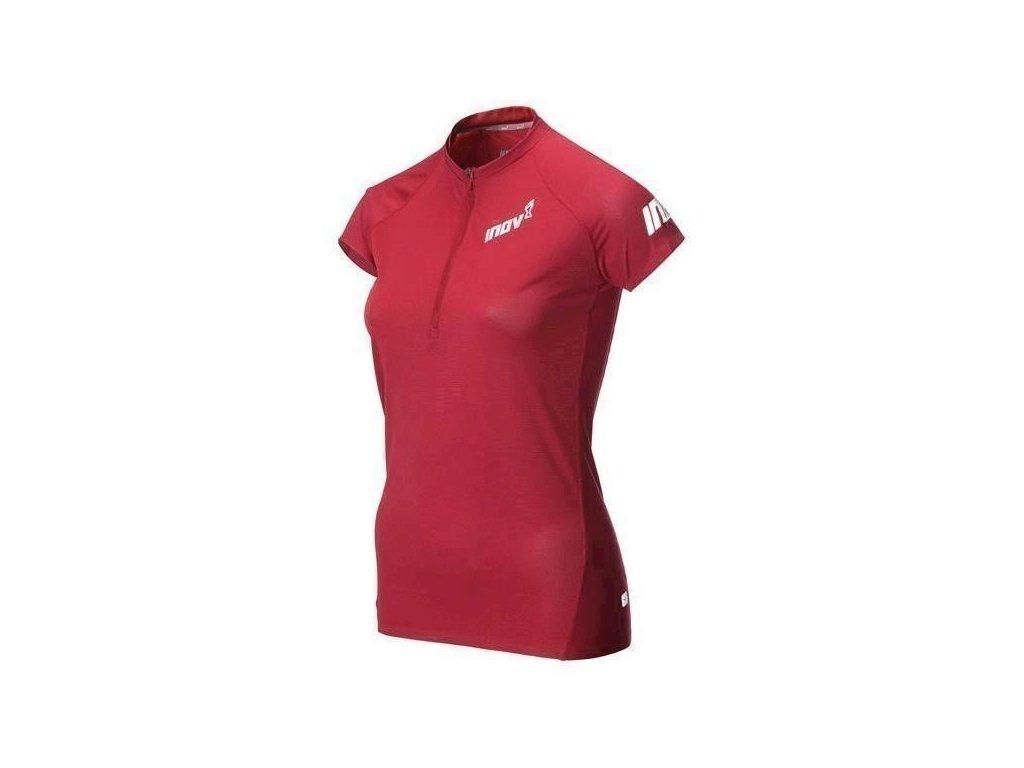Inov-8 AT/C BASE SSZ tričko dámské se zipem bordó