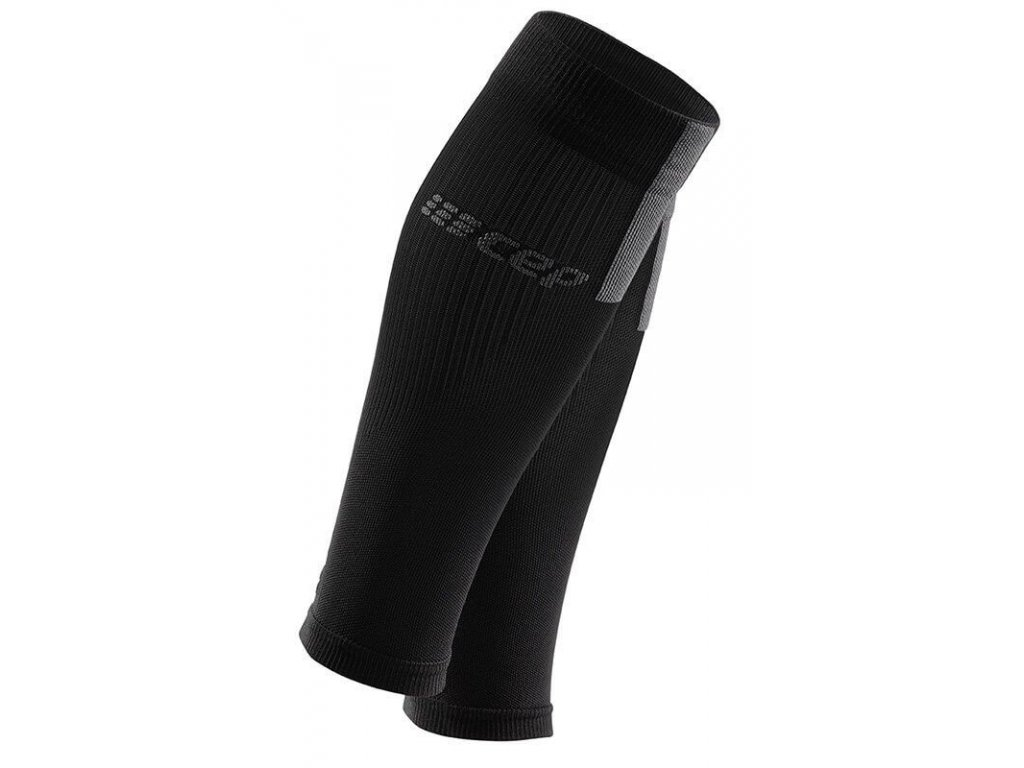 1280x1280 Compression Calf Sleeves 3.0 black grey WS50VX m WS40VX w pair front