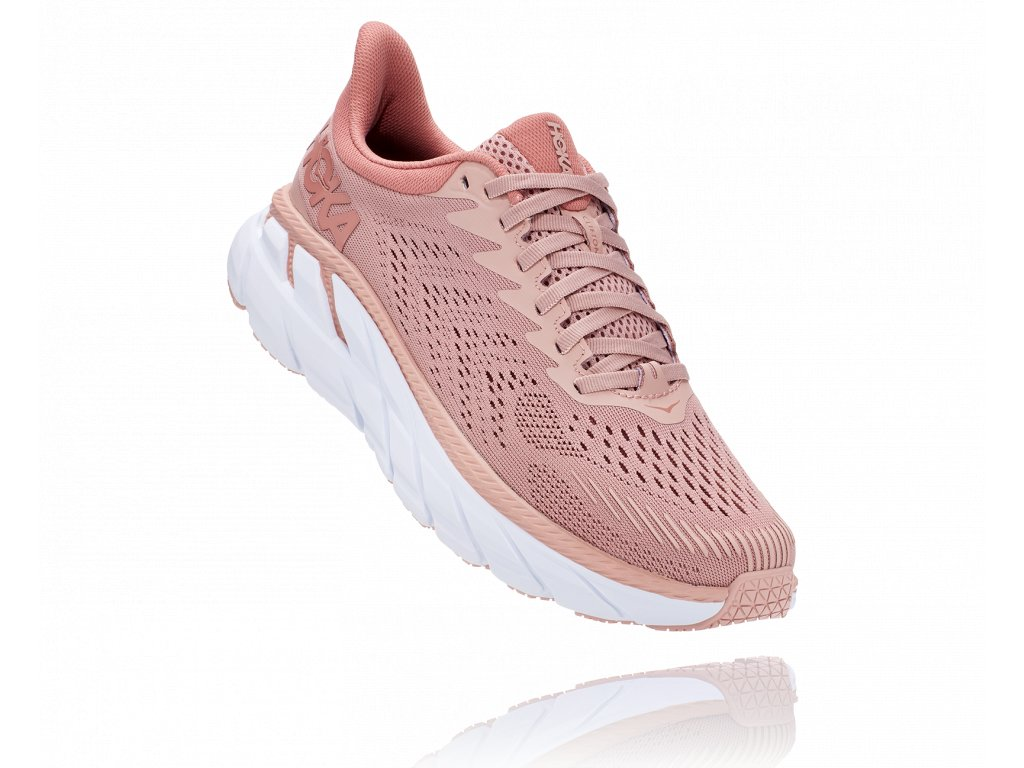 Hoka One One Clifton 7 Misty Rose Cameo Brown dámské