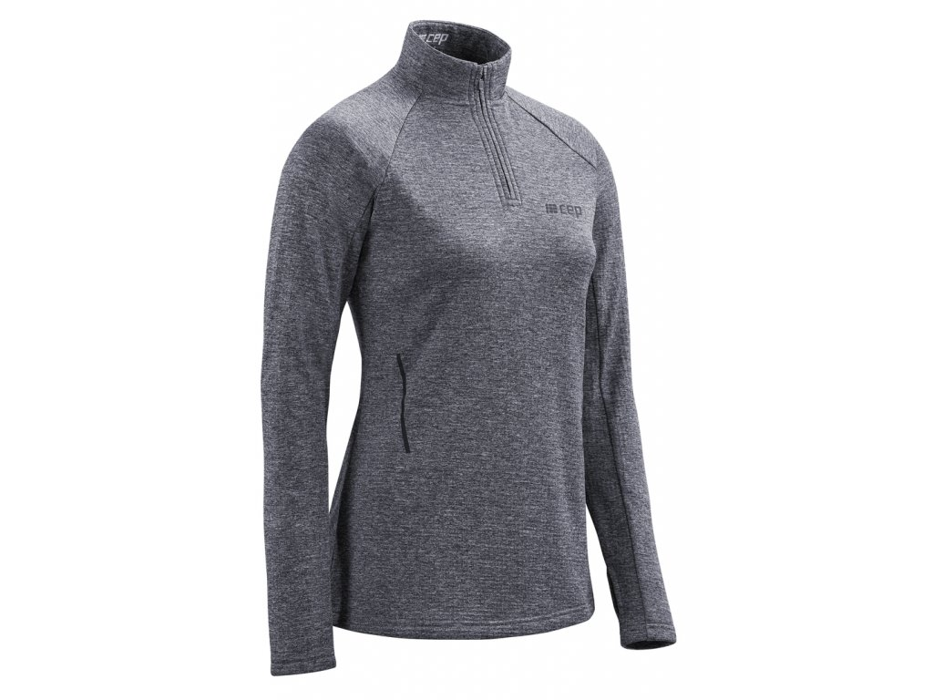 Winter Run Shirt LS black melange W0A369 w front