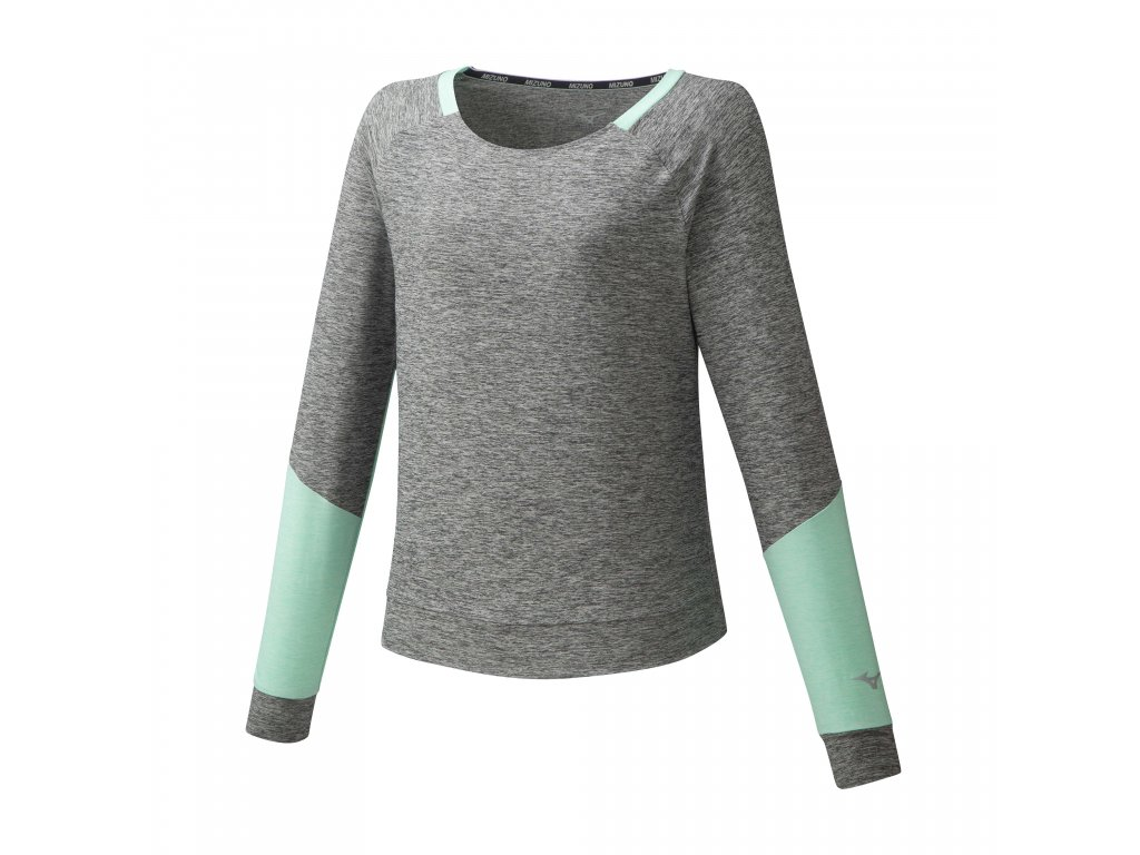 Mizuno Style LS Shirt Grey Melange triko dámské