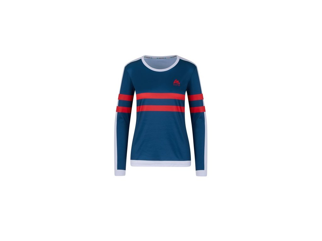 WildTee Běžecké triko COLOR STRIPES RED W