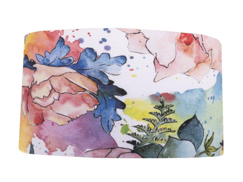 čelenka barevná zahrada