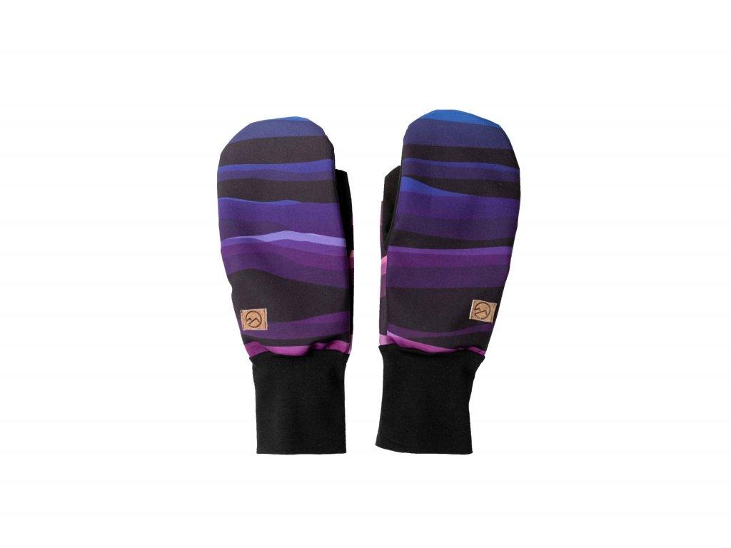 Čelenky z hor Rukavice Wave Purple