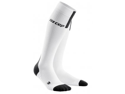 1280x1280 Run Compression Socks 3.0 white dark grey WP508X m WP408X w pair front