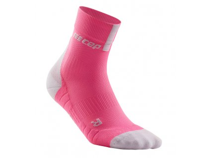 Compression Short Socks 3.0 rose light grey WP4BGX w single front