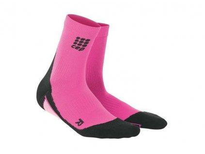 CEP Dynamic+ Short Socks ponožky kompresní nad kotníky dámské růžové (Balení IV, Velikost 0)