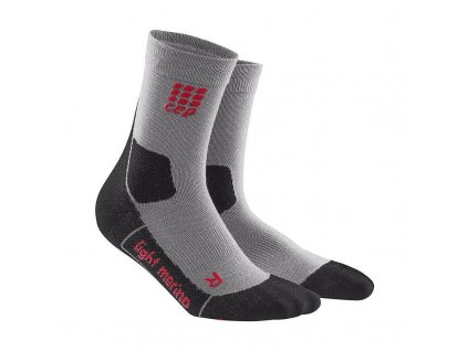 CEP Outdoor Light Merino Compression Mid-cut socks Volcanic Dust (Velikost IV)