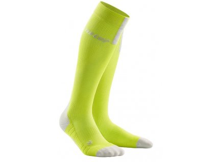 1280x1280 Run Compression Socks 3.0 lime light grey WP50EX m WP40EX w pair front