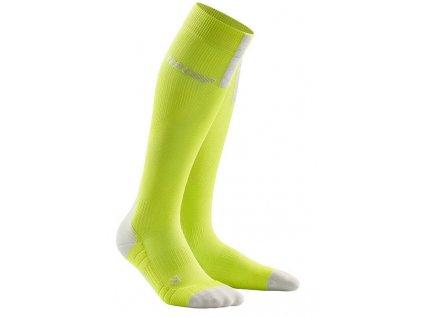 1280x1280 Run Compression Socks 3.0 lime light grey WP50EX m WP40EX w pair front