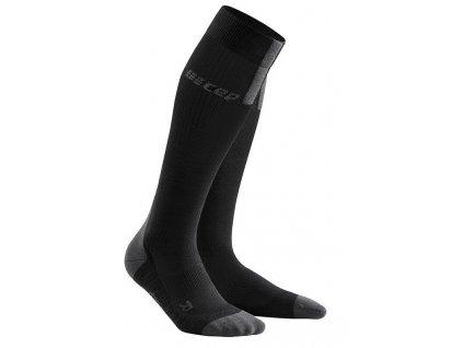 1280x1280 Run Compression Socks 3.0 black dark grey WP50VX m WP40VX w pair front