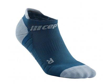 Compression No Show Socks 3.0 blue grey WP56DX m WP46DX w single front