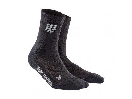 CEP Outdoor Light Merino Compression Mid-cut socks Lava Stone dámské (Velikost V)
