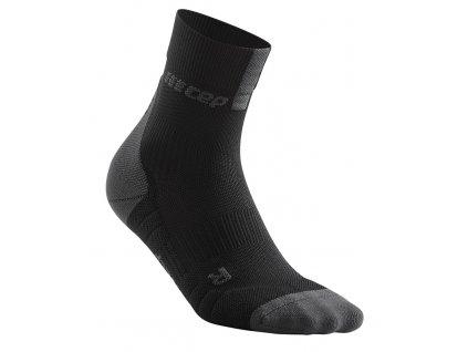 Compression Short Socks 3.0 black dark grey WP5BVX m WP4BVX w single front