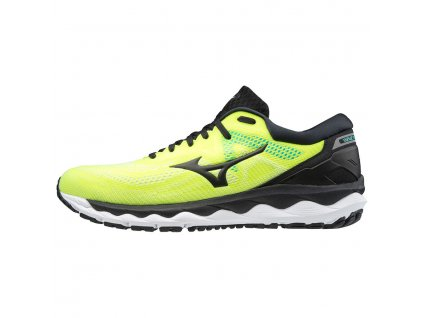 Mizuno Wave Sky 4 Yellow Black Atlantis pánské z Best4Run Přerov (1)