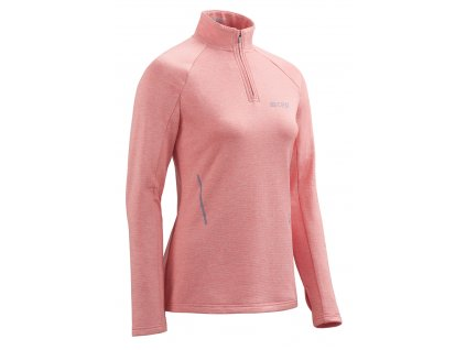 Winter Run Shirt LS rose melange W0A3A9 w front