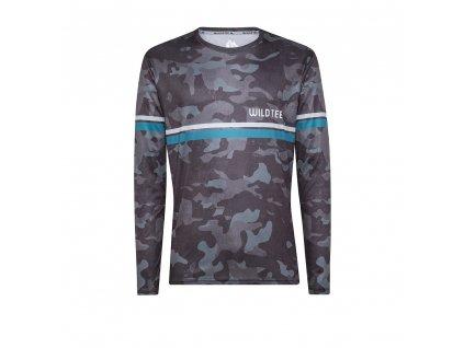 WildTee Běžecké triko CAMO GREY