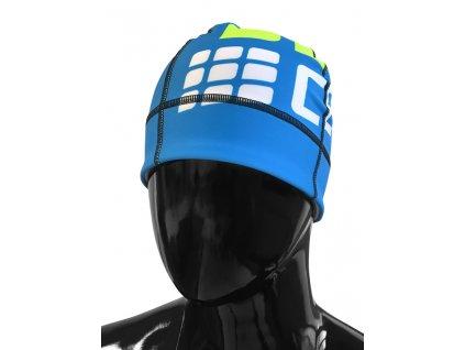 Cep čepice elektrická modř zelená fluo