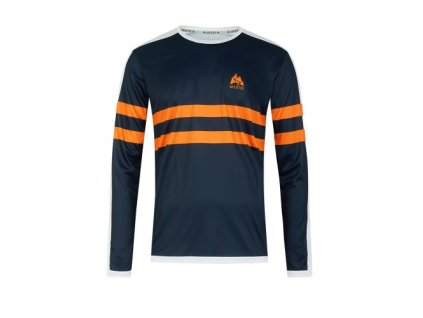 WildTee Běžecké triko COLOR STRIPES ORANGE