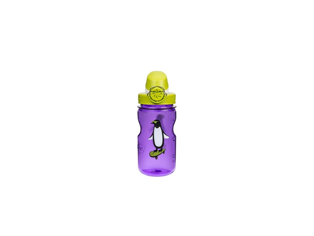 Nalgene Clear Kids OTF purple pengu